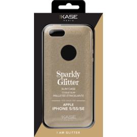 Sparkly Glitter Slim Case for Apple iPhone 5/5s/SE, Gold