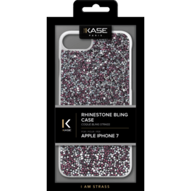 Rhinestone Bling case for Apple iPhone 6/6s/7/8/SE 2020, Pink Flambe & Silver