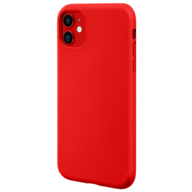 Anti-Shock Soft Gel Silicone Case for Apple iPhone 11, Fiery Red