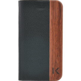 Case Flip case for Apple iPhone 4/4S, motif Black lychee & Rosewood