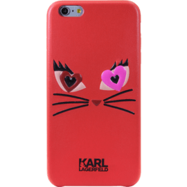Case Karl Lagerfeld Choupette in Love 2 Coque pour Apple iPhone 6 Plus/6s Plus, Rouge
