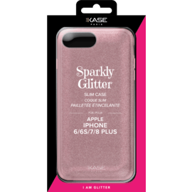 Sparkly Glitter Slim Case for Apple iPhone 6/6s/7/8 Plus, Rose Gold