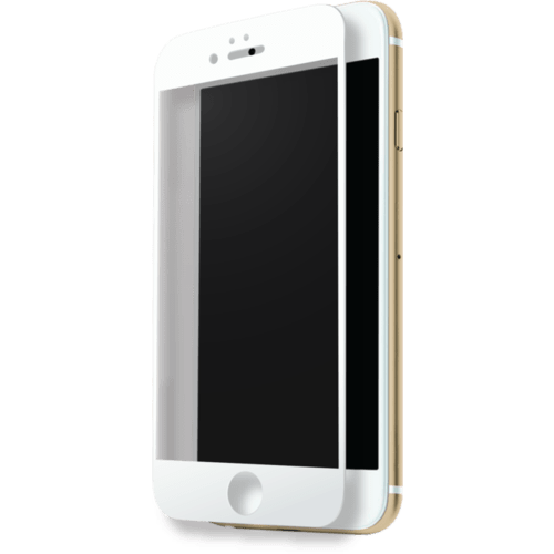 Case Full Coverage Tempered Glass Screen Protector for Apple iPhone 7, White