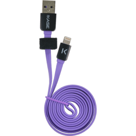 Lightning Flat cable to USB (1m), Royal Purple