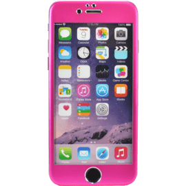 Case Titanium Alloy Tempered Glass Screen Protector for Apple iPhone 6/6s, Pink