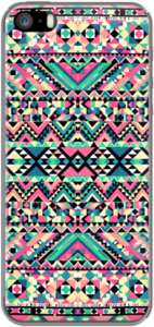 Case Pink Turquoise Girly Aztec Andes Tribal Pattern by Railton Road
