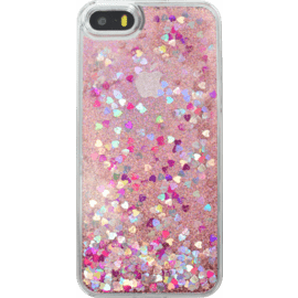 Bling Bling Glitter Case for Apple iPhone 5/5s/SE, Pink Lady