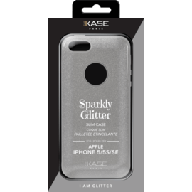 Sparkly Glitter Slim Case for Apple iPhone 5/5s/SE, Silver