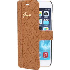 Case Guess Scarlett Coque Clapet pour Apple iPhone 6 Plus/6s Plus, Cognac