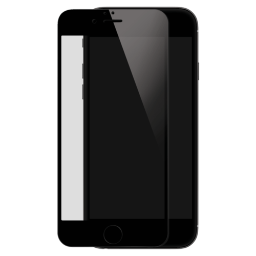 Case Full Coverage Tempered Glass Screen Protector for iPhone 6/6s, Black
