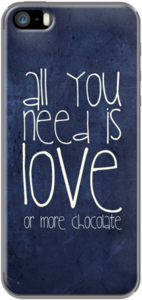 Case All you need is LOVE or more CHOCOLATE by Monika Strigel