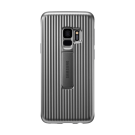 Coque renforcée avec fonction Stand Silver Galaxy S9