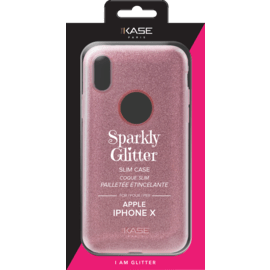 Sparkly Glitter Slim Case for Apple iPhone X, Rose Gold