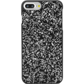 Case Étui en strass Bling pour Apple iPhone 6 Plus / 6s Plus / 7 Plus / 8 Plus, Midnight Black & Silver