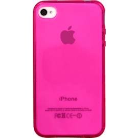 Case Coque pour Apple iPhone 4/4S, silicone Rose