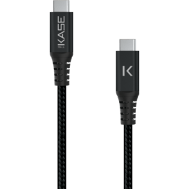 Fast Charge USB 3.1 GEN 2 Metallic braided USB-C to USB-C Charge/Sync cable (1M), Black