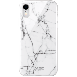 Marble Motif Case for Apple iPhone XR, Bianco White