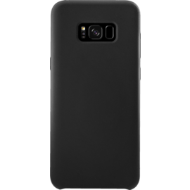 Custodia in silicone morbida per Samsung Galaxy S8, nero in raso
