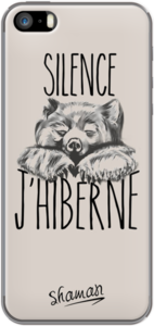 Case Coque ' Silence j hiberne ' by Le Fabuleux Shaman