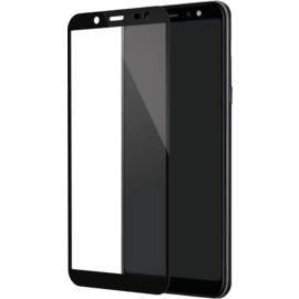 Full Coverage Tempered Glass Screen Protector for Samsung Galaxy A6 (2018)/ J6 (2018), Black