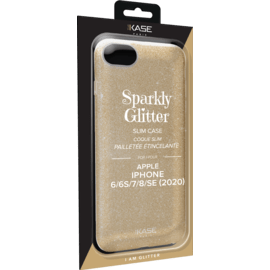 Sparkly Glitter Slim Case for Apple iPhone 6/6s/7/8/SE 2020, Gold