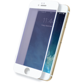 Case Anti-Blue light Full Coverage Tempered Glass Screen Protector for iPhone 6/6s, White