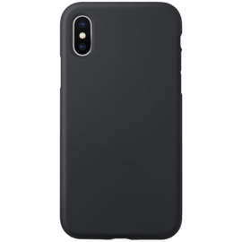 Anti-Shock Soft Gel Silicone Case for Apple iPhone X/XS, Satin Black