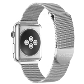 Stainless Steel Mesh Strap for Apple Watch® Series 1/2/3/4 38/40mm, Silver