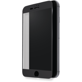 Case Protection d'écran en verre trempé (100% de surface couverte) pour Apple iPhone 6 Plus/6s Plus/7 Plus/8 Plus, Noir