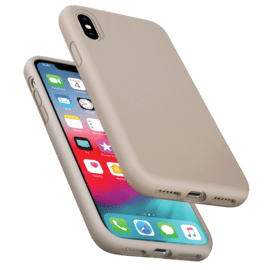 Anti-Shock Soft Gel Silicone Case for Apple iPhone X/XS, Pebble Grey