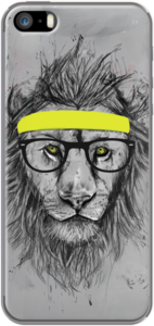Case hipster lion by soltib