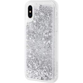 Bling Bling Hybrid Glitter Case for Apple iPhone X/XS, Galaxy Silver