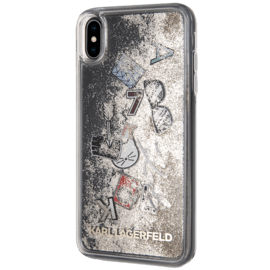 Karl Lagerfeld Iconic Bling Bling Glitter case for Apple iPhone XS Max, Gold