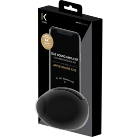 Egg Shaped Sound Amplifier for Apple iPhone X/XS, Black