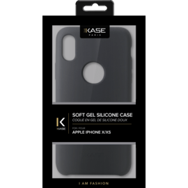 Custodia in silicone morbida per Apple iPhone X / XS Satin Black