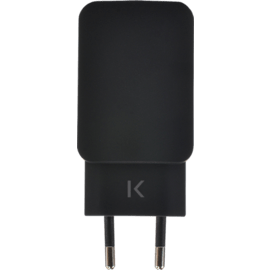 Universal Dual USB Charger (EU) 3.4A, Cool Black