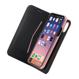 2-in-1 Magnetic Slim Wallet & Case for Apple iPhone X/XS, Rose Gold