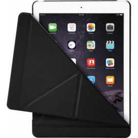 Case Origami Coque clapet Multi-position pliable pour Apple iPad Air 2, Noir Satin