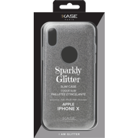 Sparkly Glitter Slim Case for Apple iPhone X, Silver