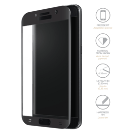 Case Full Coverage Tempered Glass Screen Protector for Samsung Galaxy A5 (2017), Black