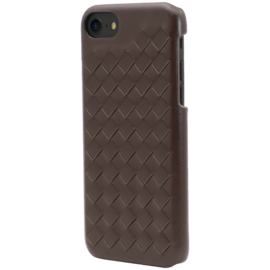 Treccia Genuine Leather Case for Apple iPhone 6/6s/7/8, Chestnut Brown