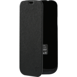 Case Protective Power Flip Case 2500mAh for Samsung Galaxy S5, Black