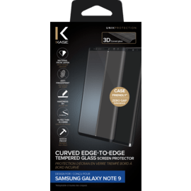 Curved Edge-to-Edge Tempered Glass Screen Protector for Samsung Galaxy Note 9, Black
