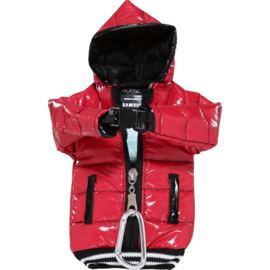 Case Down Jacket Phone Pocket with Lanyard (5 inch), Red