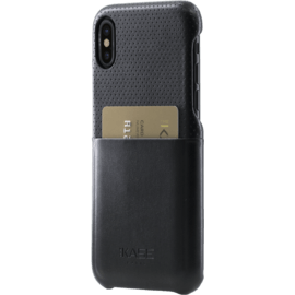 Perforated Ultra Slim Credit Card Case for Apple iPhone X/XS, Black