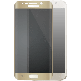 Case Curved Edge-to-Edge Tempered Glass Screen Protector for Samsung Galaxy S6 Edge, Gold