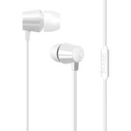 Case K In-ear Headphones, Bright White