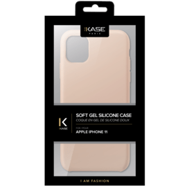 (D) Soft Gel Silicone Case for Apple iPhone 11, Sandy Pink