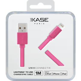 Apple MFi certified Lightning Charge/Sync Cable (1M) Hot Pink