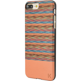 Wood case for Apple iPhone 7 Plus/8 Plus, Browny Check